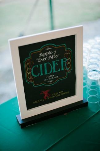 Apple Cider Themed Wedding