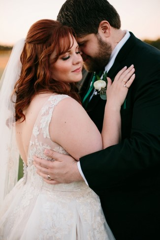 Bride and groom head to head captured by Rachel Meagan Photography