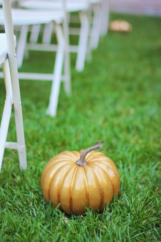 Pumpkins for Fall wedding decors