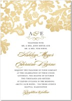 Luscious Lacing invitation from Wedding Paper Divas review