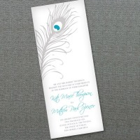 Peacock Feather Wedding Invitation f