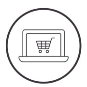 Shopping cart for online shopping icon 300