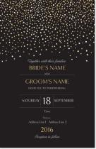 Starry night wedding invitation from vista print