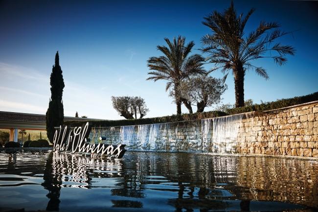Waterfall at Vale d'Oliveriras resort in Algarve