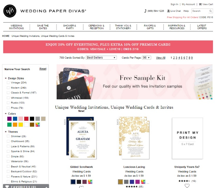 Wedding paper Divas Wedding Stationery Page