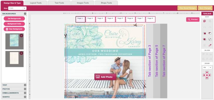 Wedding paperie wedding invitation design tool