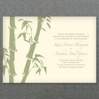 bamboo wedding invitation f