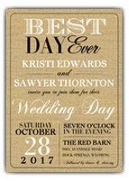 """best day ever"" invite from PaperStyle.com"