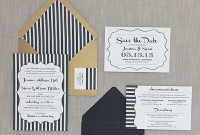 black stripes wedding suite