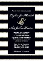 elegant gold stripes invitation from BasicInvite.com