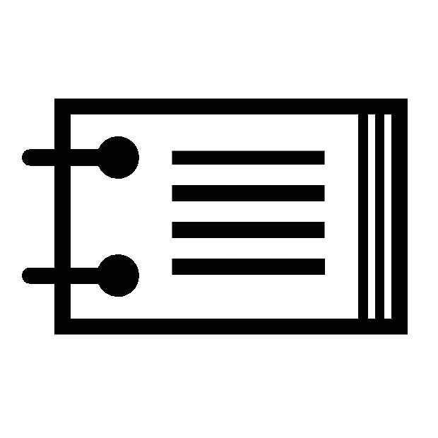 sample flip book icon