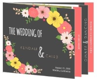 gray floral country booklet for wedding paperie review