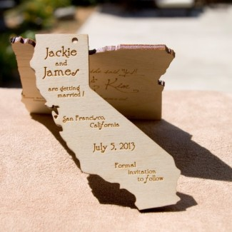 California wooden state save the date by etsy