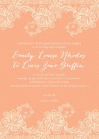 lucky in lace wedding invitation
