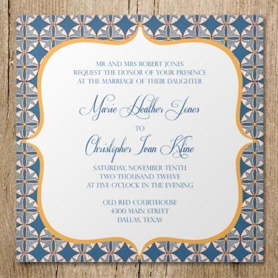 mosaic inspired invitation