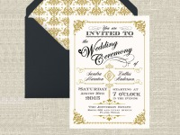 ornate vintage invitation suite
