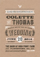 romance rustique wedding invitation from Minted.com