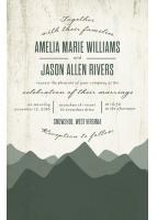 rustic horizon invite for WeddingPaperDivas.com