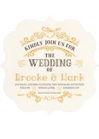 rustic pumpkin wedding invite from PurpleTrail