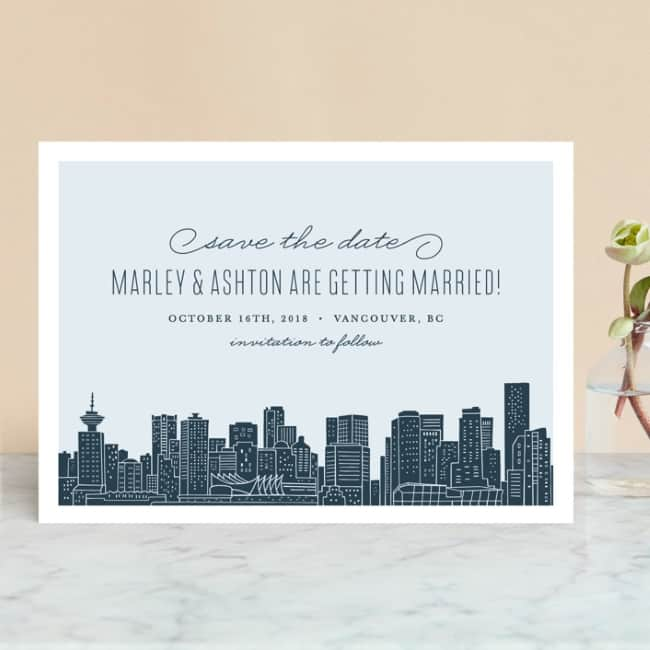 Big city (Vancouver) Save the Date Cards