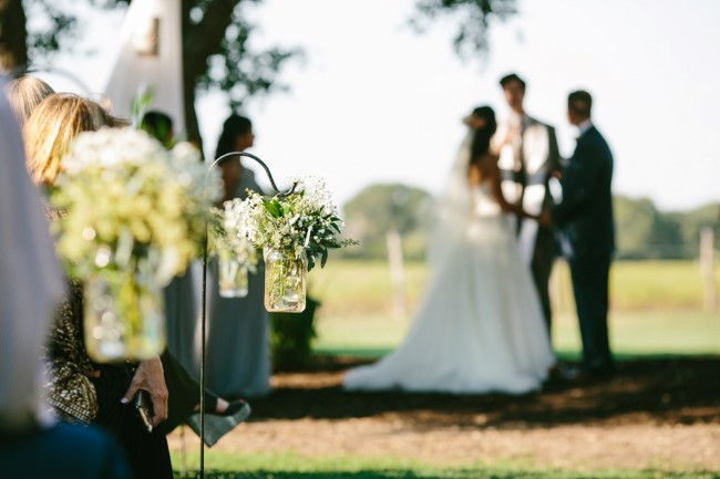 Outdoor wedding ceremony at Stonehouse Villa captured by Brant Smith Photography