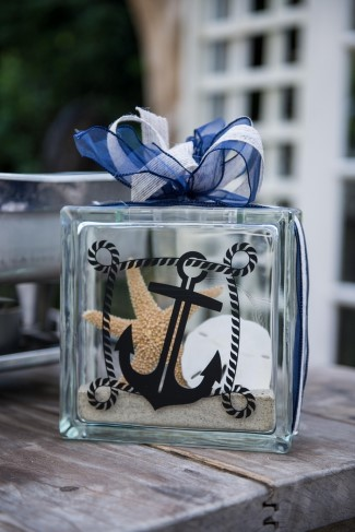 Ornate Lantern For Nautical Themed Wedding Decor With Anchor And Starfish