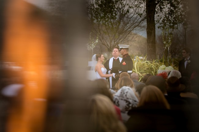 Outdoor wedding at Oakhurst Country Club