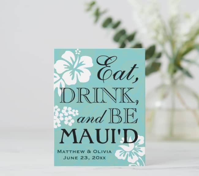 Maui Destination Wedding Save the Date