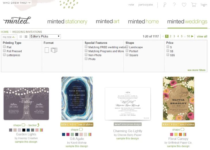 Minted Wedding Stationery Page1