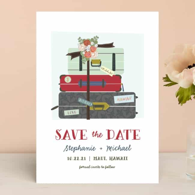 Pack your Bags Save the Date for destination wedding