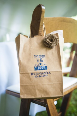Custom wedding favor bags