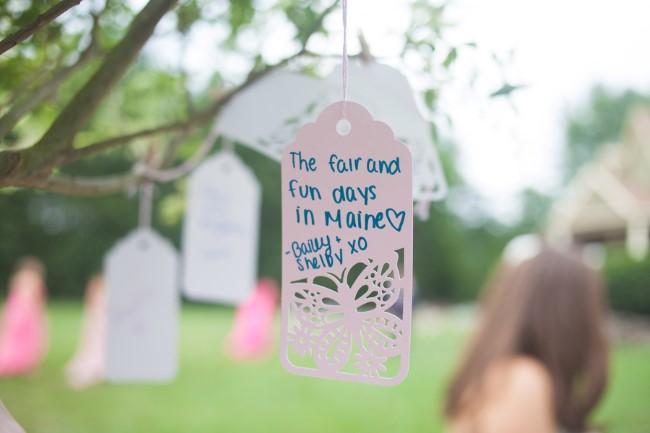 wishing well tree note for wedding guest to sign