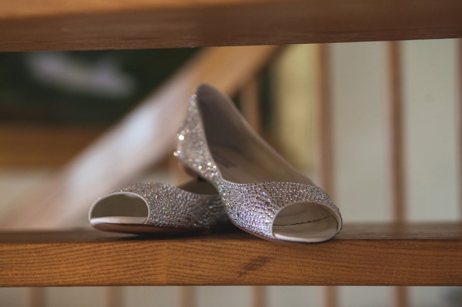 Benjamin Adams peep toe flats for bridal shoes
