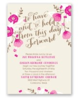 floral romance all-in-one invite from Ann's Bridal Bargains