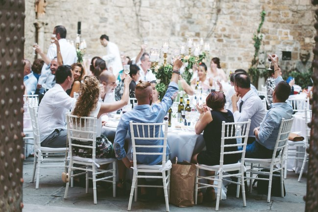 Destination Wedding reception at Castello di Vincigliata, Fiesole, Italy