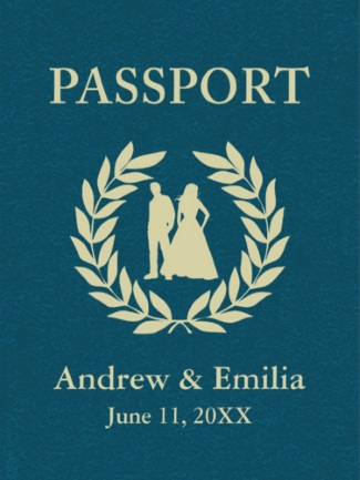 Save the date passport from zazzle