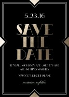 modern deco savethedate for Simply to Impress Review