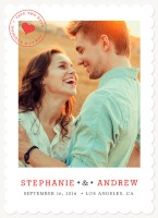 stamped heart photo save-the-date from SimplytoImpress.com