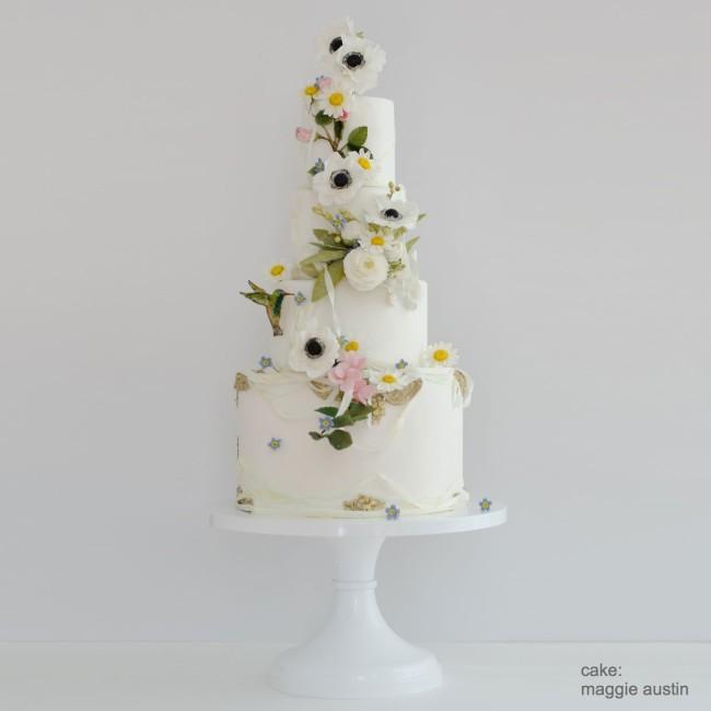 Mosser round white cake stand