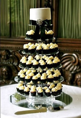 7-tier silver cupcake stand