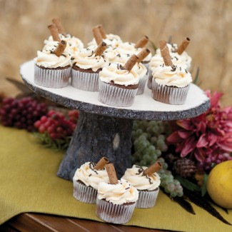 Hortense B Hewitt Rustic Log Cake Stand