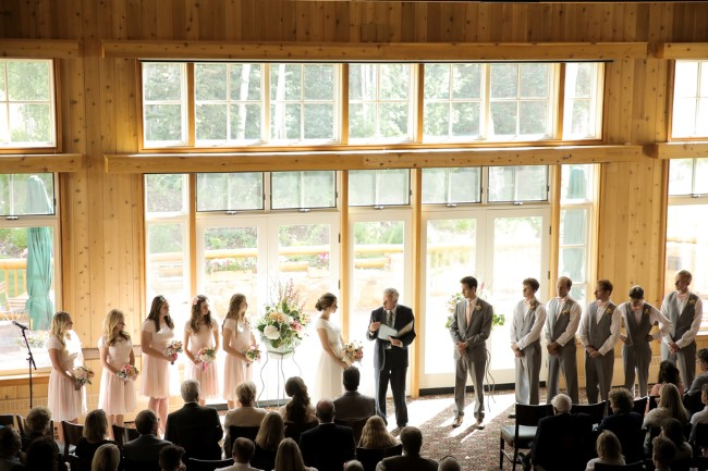wedding ceremony at Deer Valley Resort