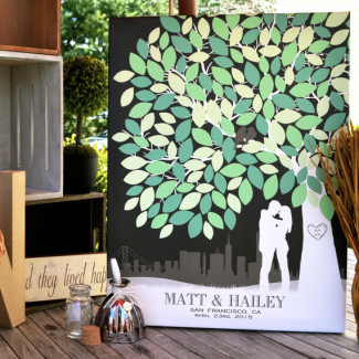 PaperRamma Wedding Guest Book Tree