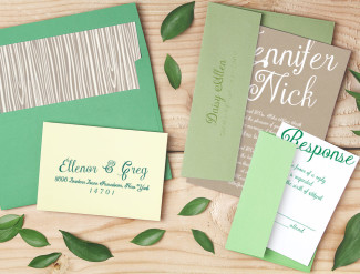 basic_invite green leaf stationery