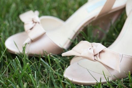 Blush pink Betsy Johnson sandles for brides attire