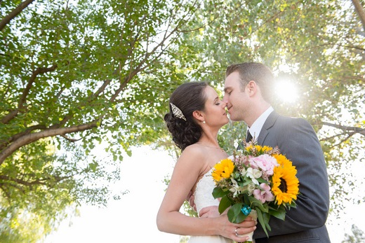Bride and groom portrait captured by Sarah Dupree Photography