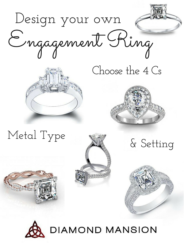 Design your own engagement ring with diamond mansion for Create wedding ring