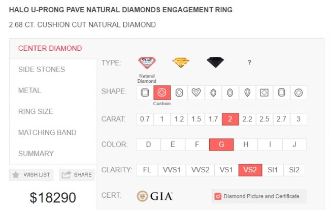 Diamond mansion custom engagemnt ring function