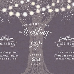 Rustic Minted Wedding Invitation - Garden Lights