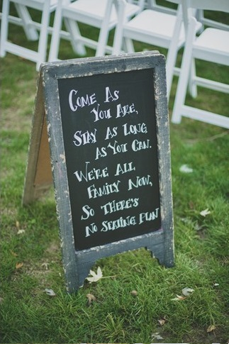 Sandwhich board wedding chalkboard sign